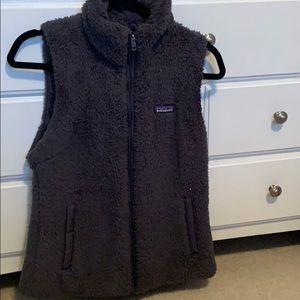 Womens furry patagonia vest, Los Gatos fleece vest